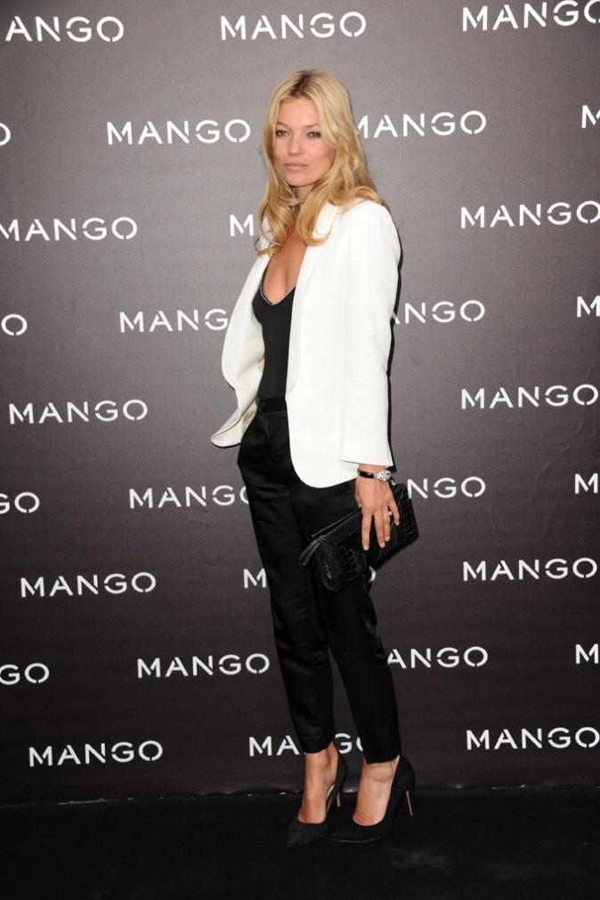 Kate Moss lors de la soirée Mango à Paris, le 18 mai 2011.