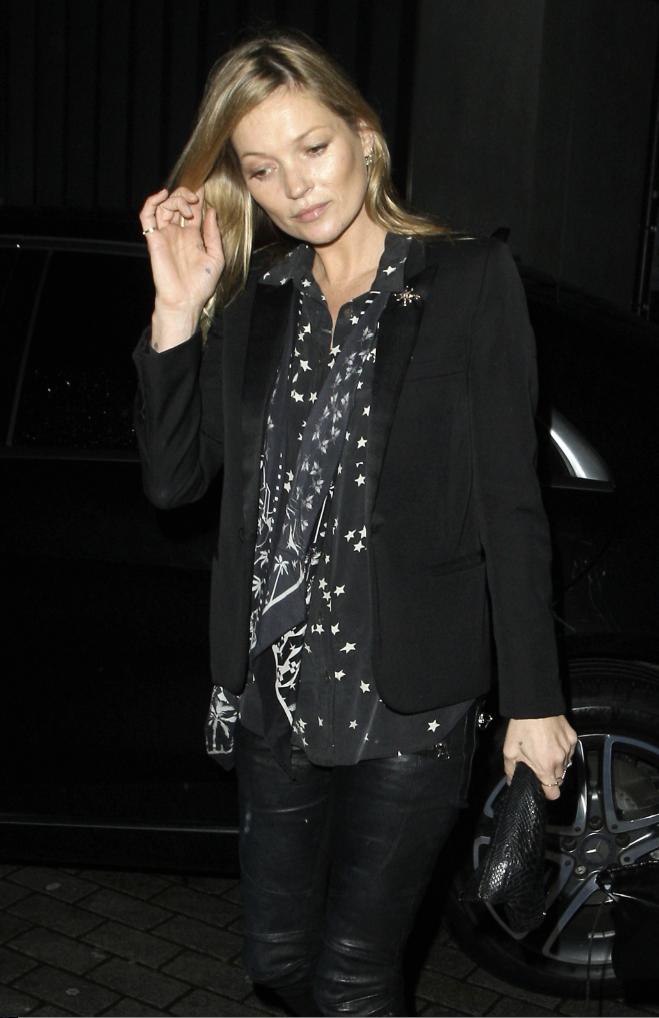 Kate Moss le 25 novembre 2014