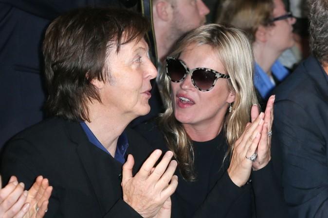 Kate Moss et Paul McCartney le 1er octobre 2012 à Paris