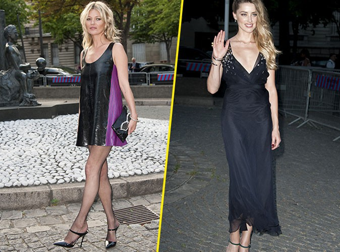 Kate Moss et Amber Heard le 4 juillet 2015