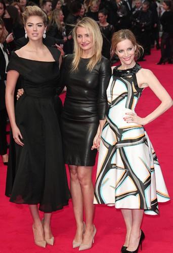 Kate Upton, Cameron Diaz et Leslie Mann à Londres le 2 avril 2014
