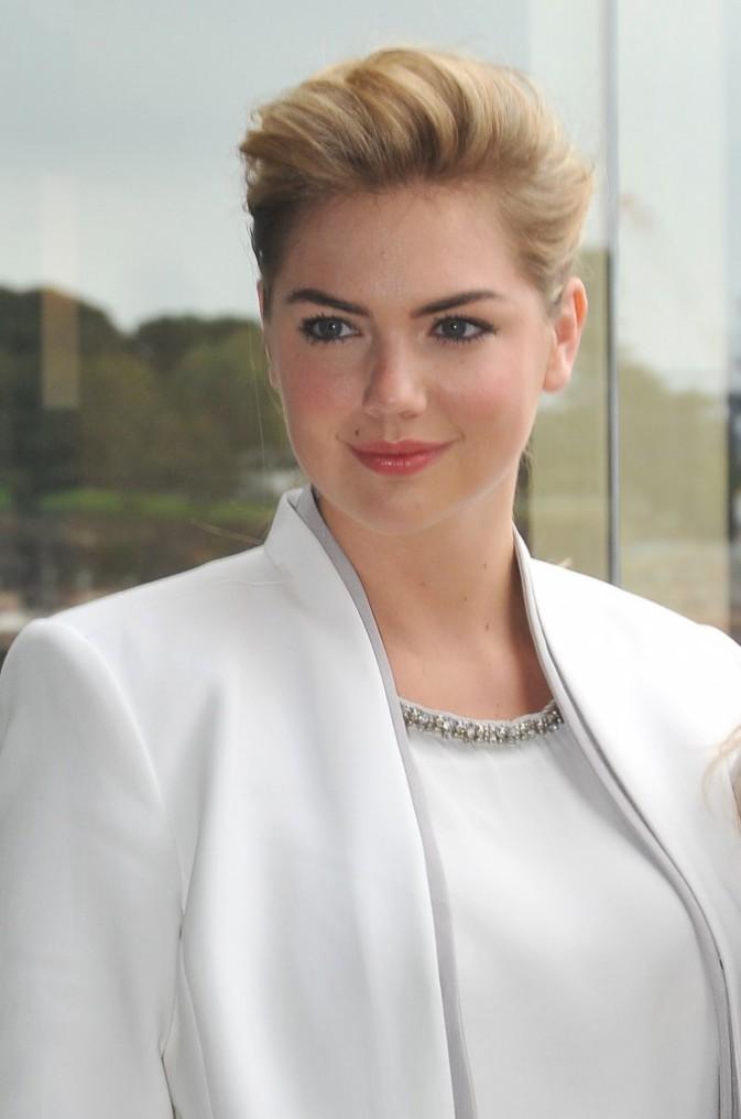 Kate Upton en promo à Sydney, le 15 avril 2014.