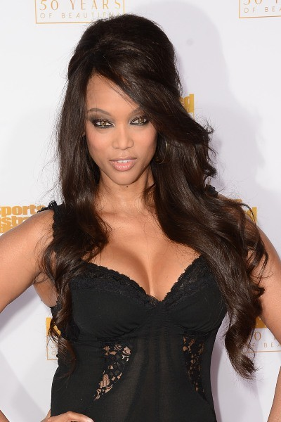 Tyra Banks lors des 50 ans du magazine Sports Illustrated Swimsuit à Los Angeles, le 14 janvier 2014.