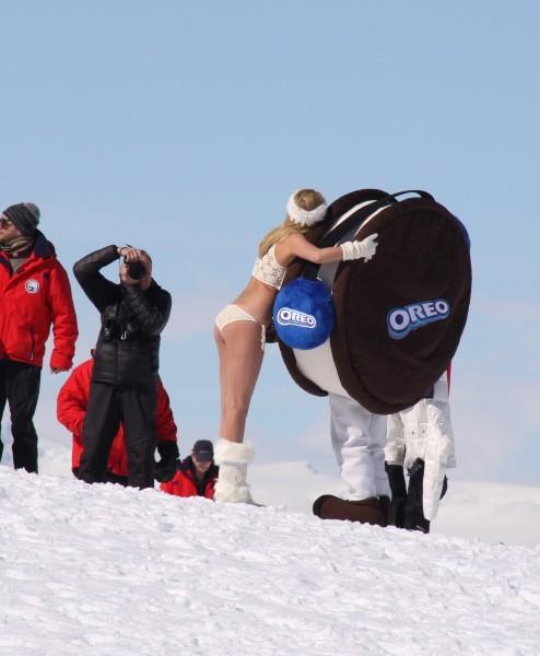 Kate Upton lors d'une croisière professionnelle entre l'Argentine et l'Antarctique