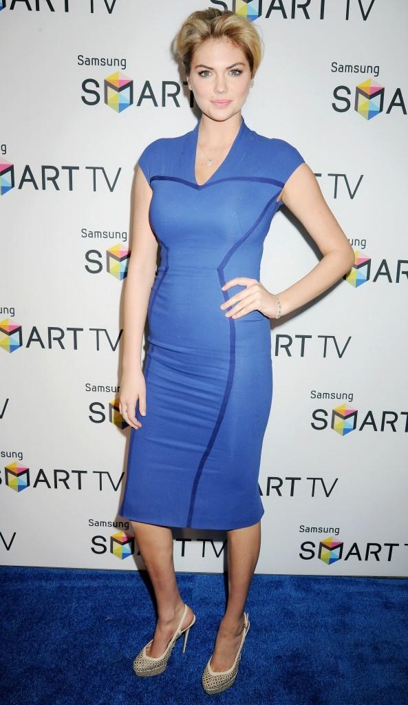 Kate Upton, hôtesse glamour pour la soirée Samsung