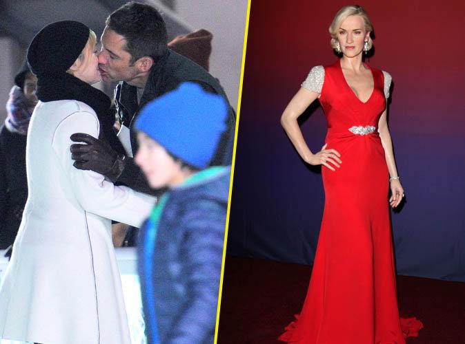 Kate Winslet : baiser langoureux et nouveau double de cire, elle est sur tous les fronts !