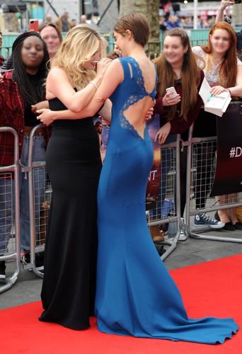 Kate Winslet et Shailene Woodley à Londres le 30 mars 2014