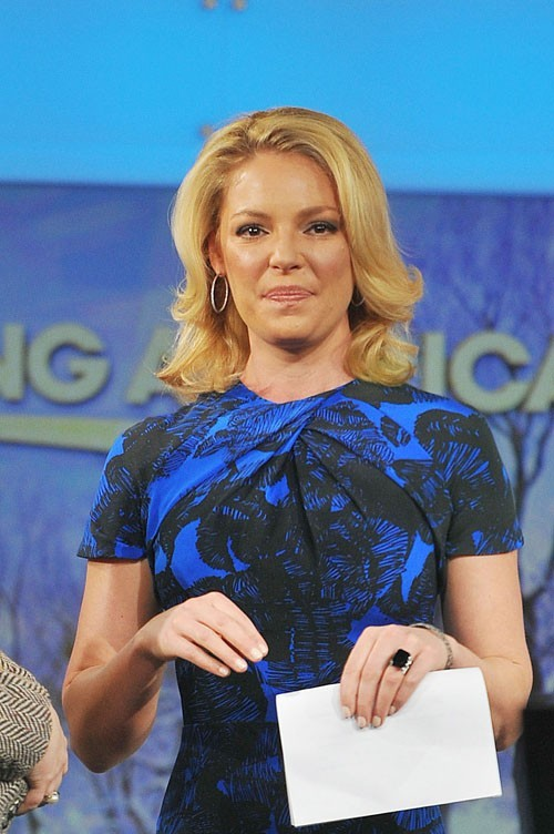 Katherine Heigl à l'émission Good Morning America à New-York le 11 février 2013