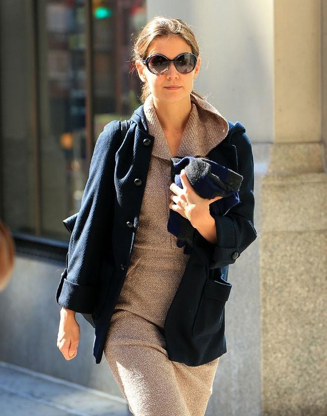 Katie Holmes avec son avocat à New-York le 21 octobre 2012