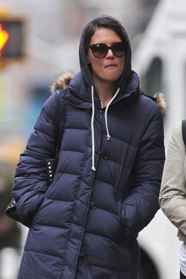 Katie Holmes à New-York le 6 janvier 2014