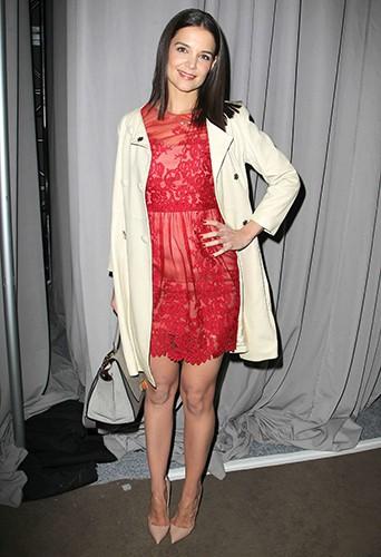 Katie Holmes à New-York le 12 février 2014