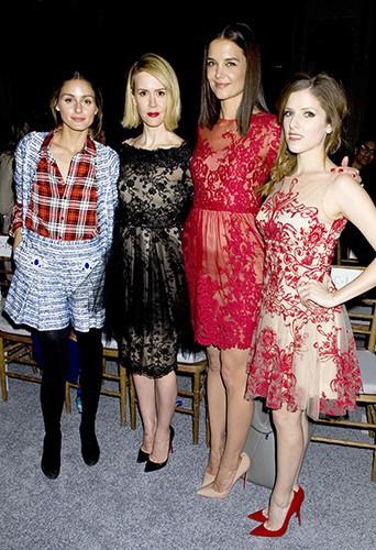 Olivia Palermo, Sarah Paulson, Katie Holmes et Anna Kendrick à New-York le 12 février 2014