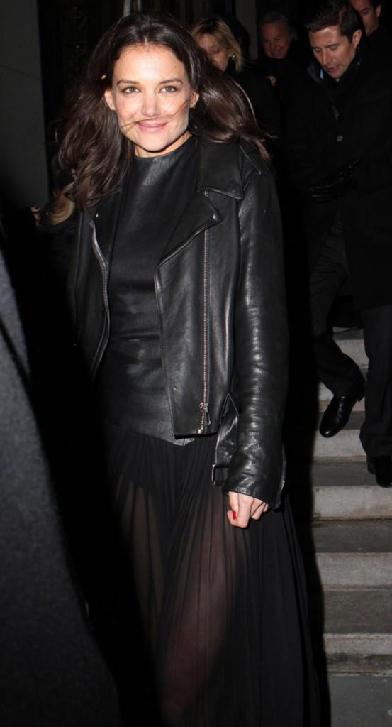 Katie Holmes à New-York le 10 février 2014