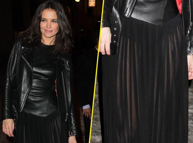 Katie Holmes : cuir et transparence, elle se lâche à la Fashion Week de New-York !