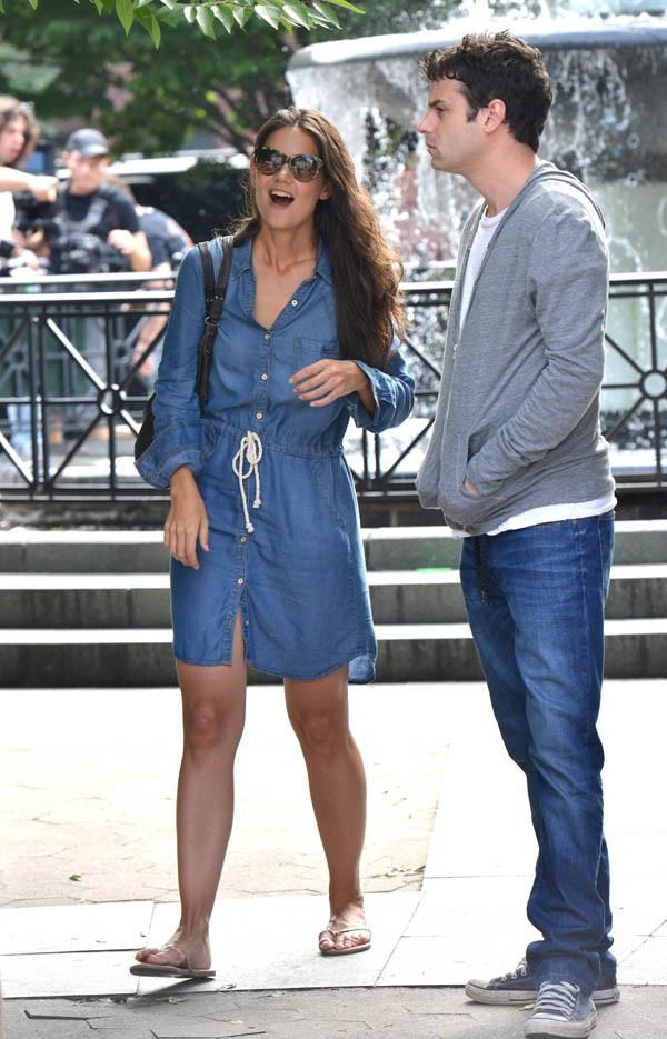 Katie Holmes en tournage à New-York le 23 juillet 2013