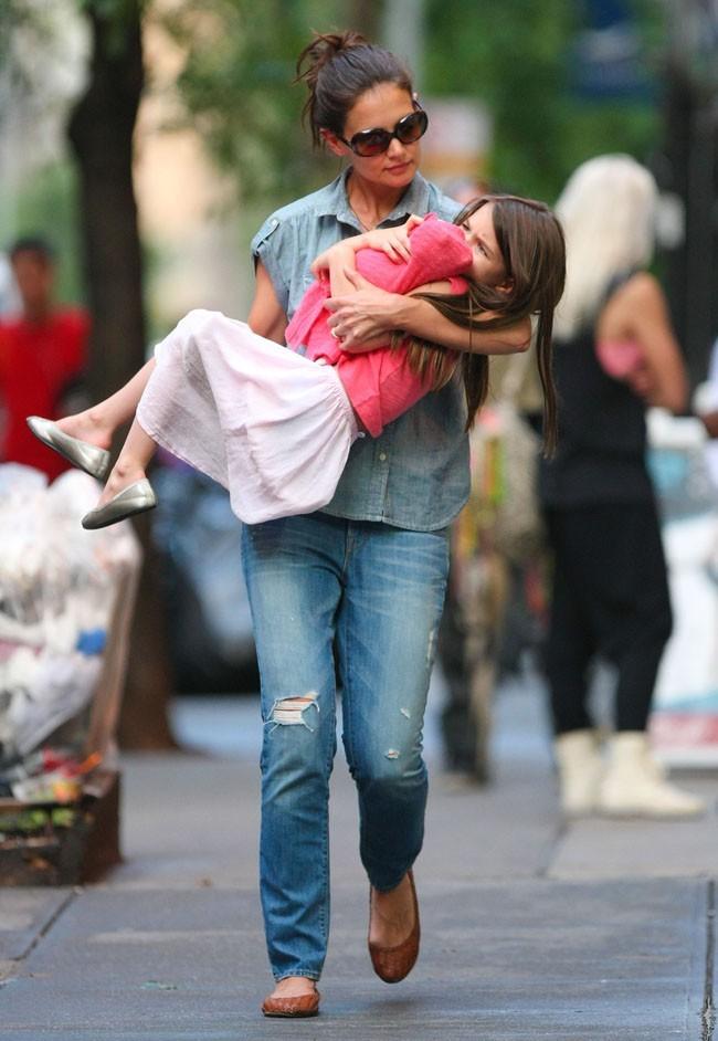 Katie Holmes et Suri Cruise le 25 juin 2012 à New York