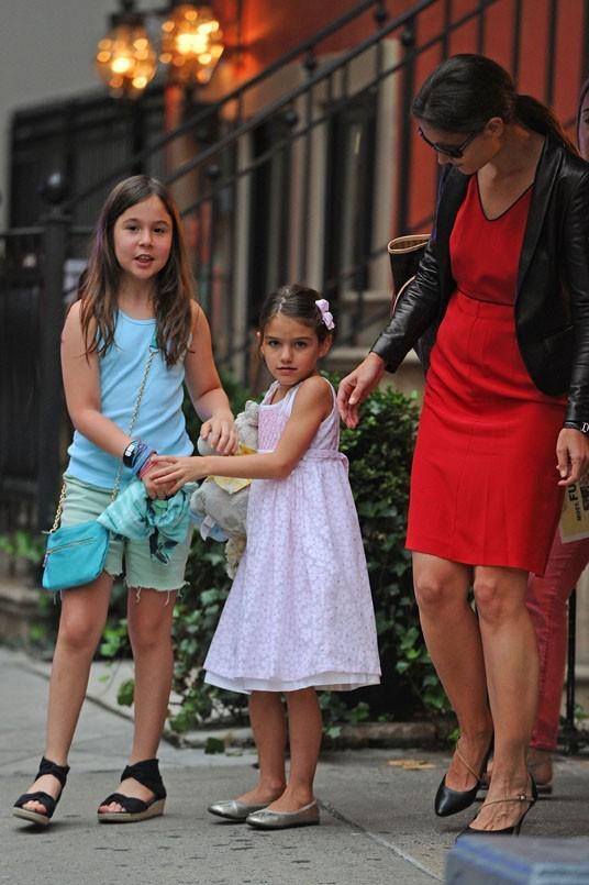 Katie Holmes et Suri à New-York le 19 août 2012