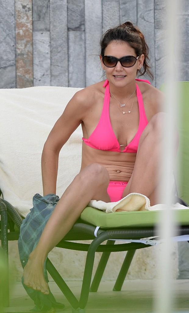 Katie Holmes et Suri Cruise en vacances à Miami le 30 décembre 2013