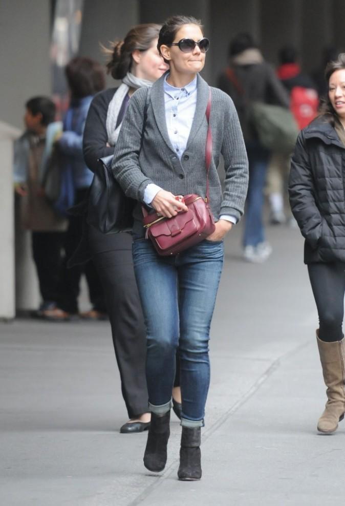 Katie Holmes, New York, 2 novembre 2012.