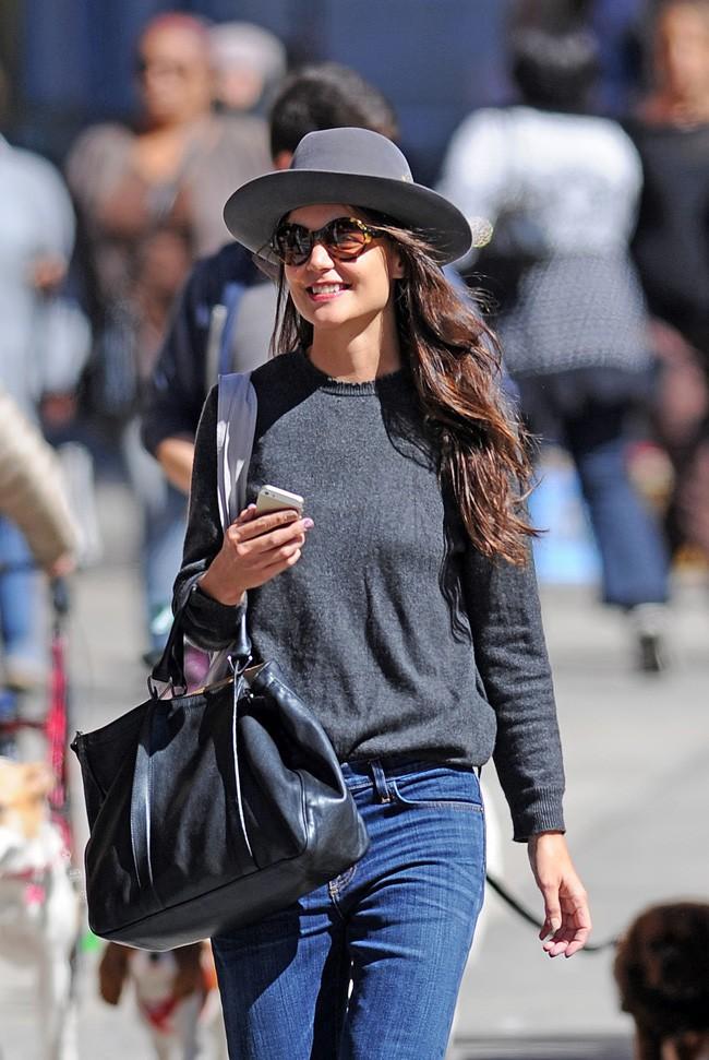 Katie Holmes dans les rues de New-York le 23 septembre 2013