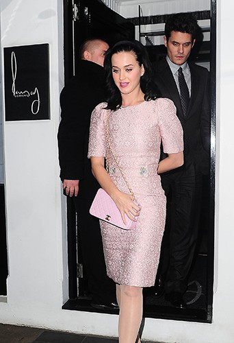 Katy Perry et John Mayer à Londres le 19 octobre 2013