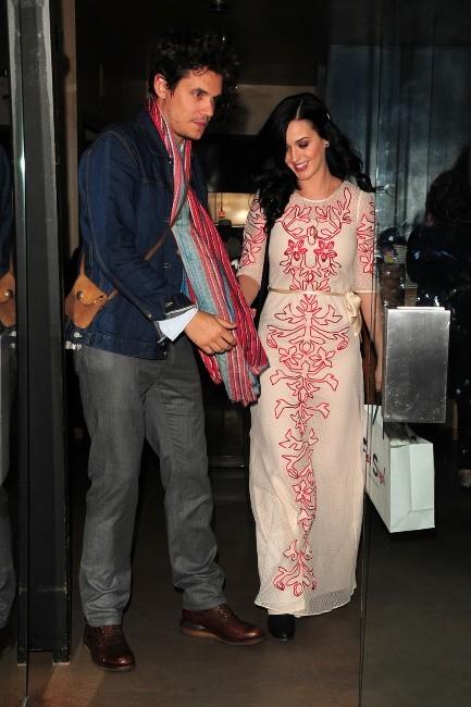 Katy Perry et John Mayer à Brentwood, le 14 février 2013.