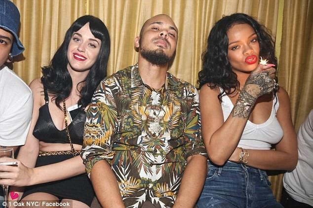 Katy Perry, Walshy Fire et Rihanna au 1 Oak à New York, le 25 avril 2014.