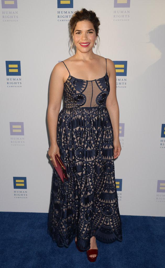 "America Ferrera pendant le gala ""Human Rights Campaign"" - Los Angeles, le 18 mars 2017"