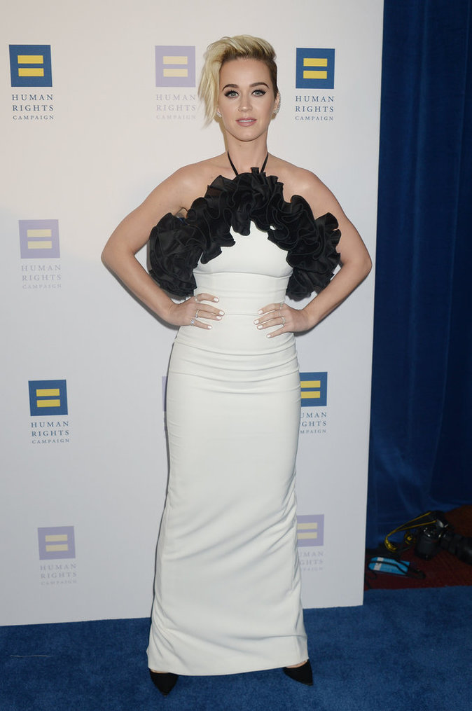 "Katy Perry pendant le gala ""Human Rights Campaign"" - Los Angeles, le 18 mars 2017"