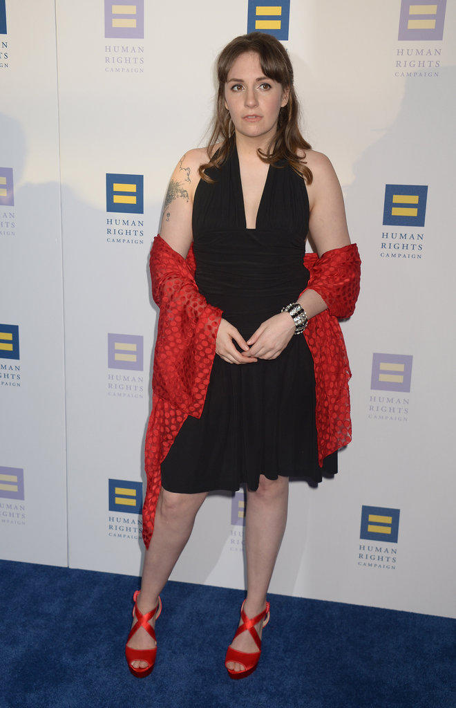 """Lena Dunham pendant le gala """"Human Rights Campaign"""" - Los Angeles, le 18 mars 2017"""