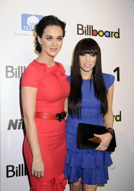 Katy Perry et Carly Rae Jepsen le 30 novembre 2012 à New York
