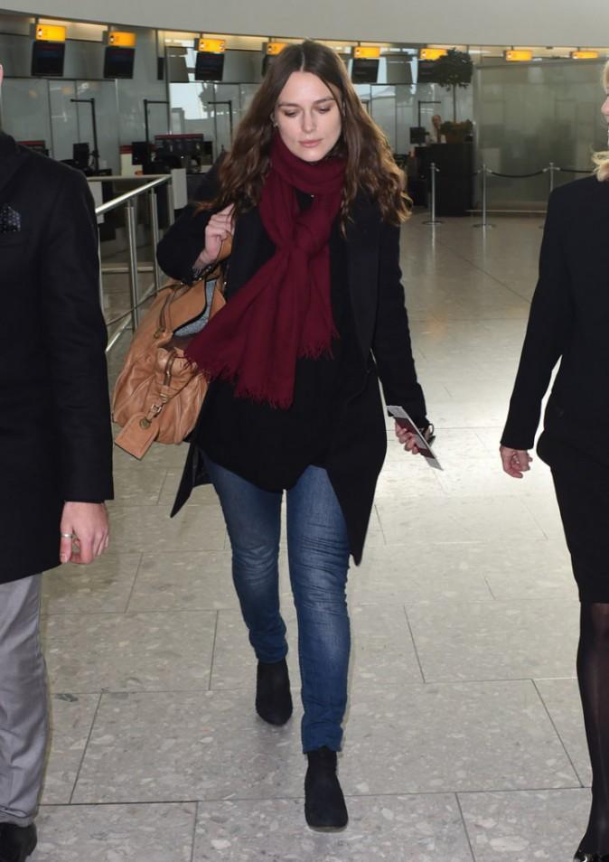 Keira Knightley à Londres le 8 janvier 2015