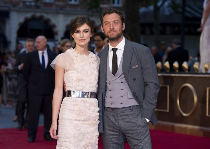Keira Knightley et Jude Law le 4 septembre 2012 à Londres