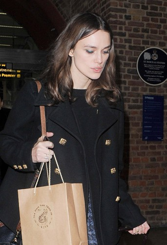 Keira Knightley à Londres le 30 janvier 2014