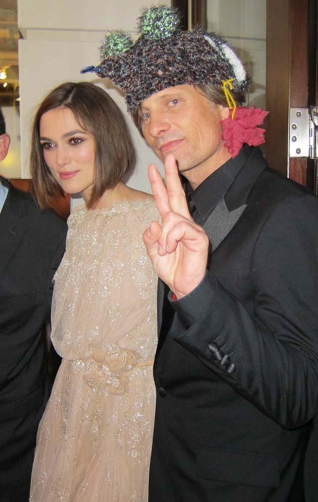 Keira Knightley et Viggo Mortensen lors de la première du film A Dangerous Method à Toronto, le 11 septembre 2011.