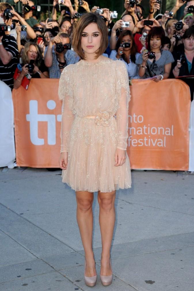Keira Knightley lors de la première du film A Dangerous Method à Toronto, le 11 septembre 2011.