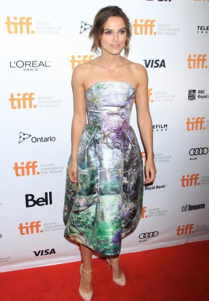 Keira Knightley lors du Festival International du Film de Toronto, le 8 septembre 2013.