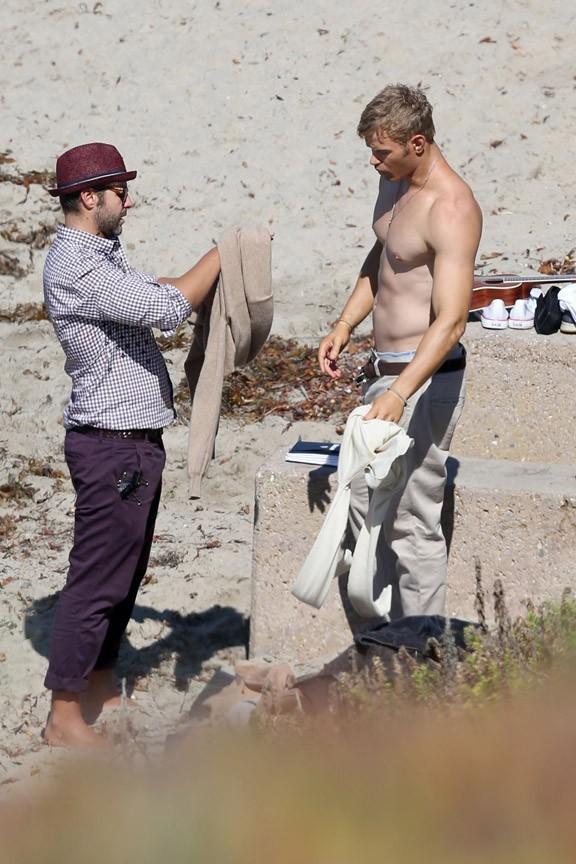 Kellan Lutz en shooting à Malibu le 14 septembre 2012