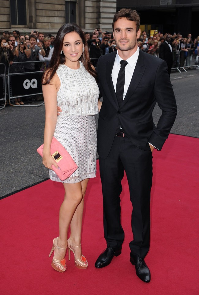 Kelly Brook et Thom Evans le 4 septembre 2012 à Londres