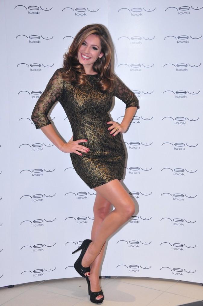 Kelly Brook lors de l'ouverture de la nouvelle boutique New Look à Londres, le 13 septembre 2011.