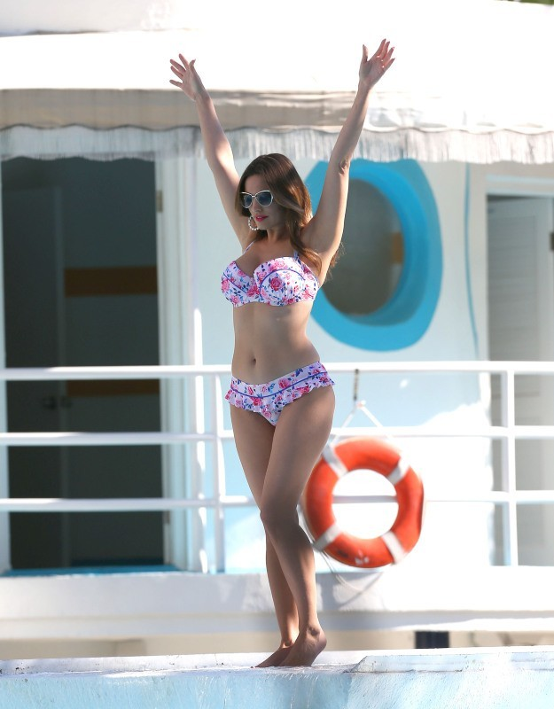 Kelly Brook le 4 février 2013 à Miami