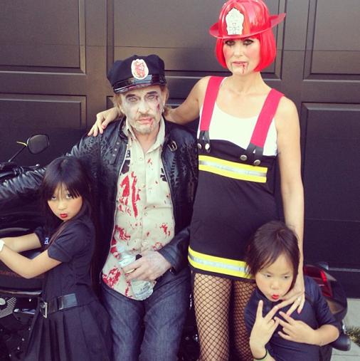 Johnny et Laetitia Hallyday en famille
