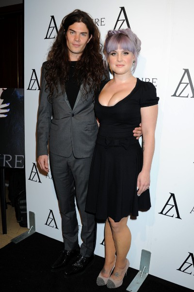 "Kelly Osbourne et son fiancé Matthew Mosshart lors de la soirée ""The Black Diamond Affair"" à Hollywood, le 8 octobre 2013."