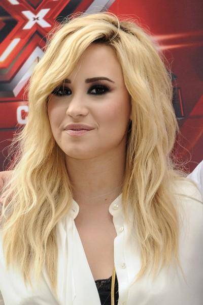 Demi Lovato lors des nouvelles auditions de X-Factor à Los Angeles, le 11 juillet 2013.