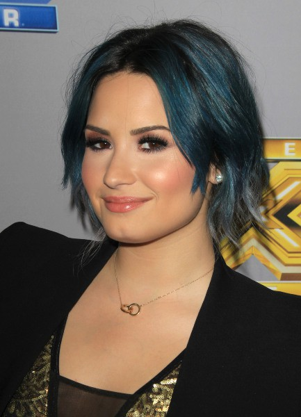 Demi Lovato lors de l'after-party de la finale de l'émission X Factor US à Los Angeles, le 19 décembre 2013.