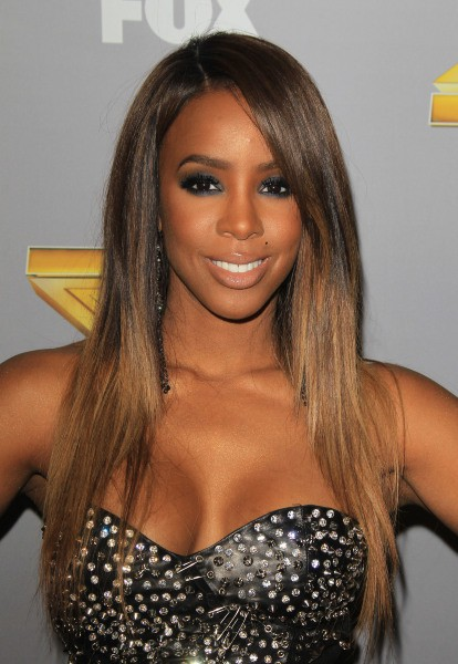 Kelly Rowland lors de l'after-party de la finale de l'émission X Factor US à Los Angeles, le 19 décembre 2013.