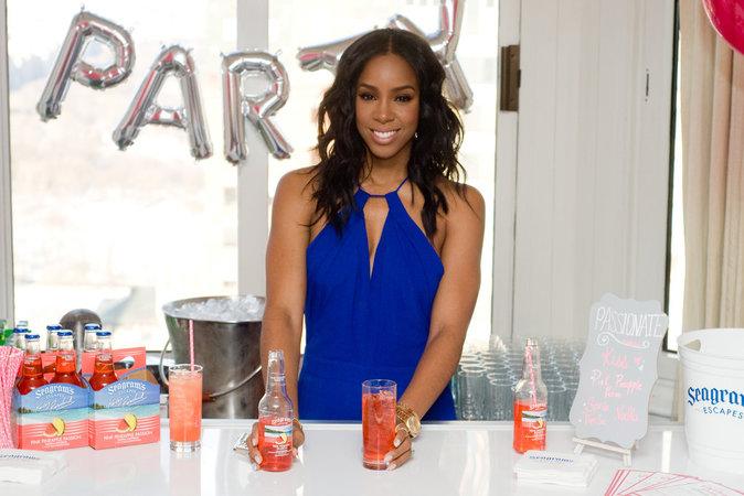 Kelly Rowland à la présentation de sa marque de boisson