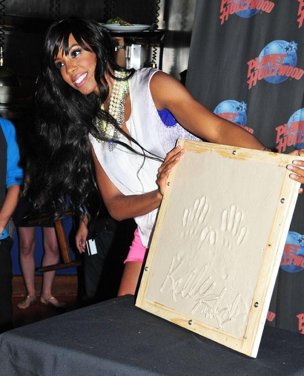Kelly Rowland lors de la promo de son nouvel album à New York, le 26 juillet 2011.
