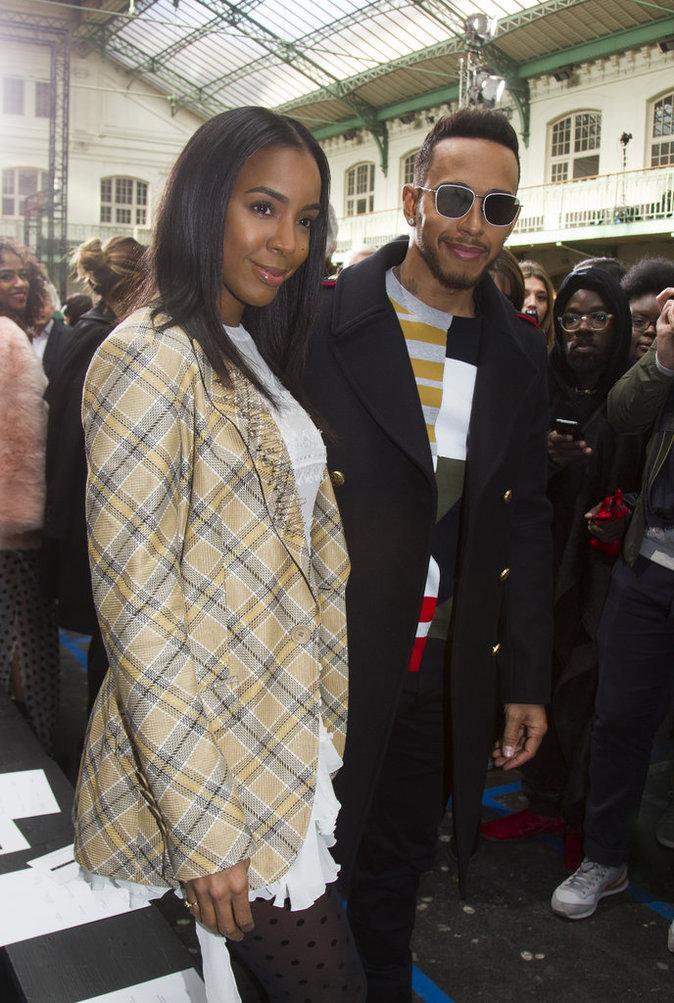 Kelly Rowland et Lewis Hamilton ont passé un moment ensemble au défilé