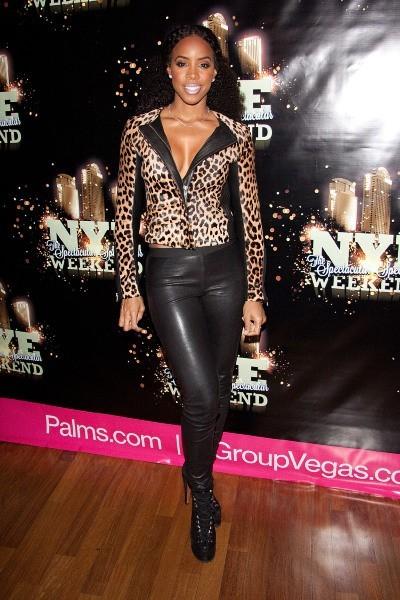 Kelly Rowland au sein du Rain Nightclub à Las Vegas, le 29 décembre 2012.